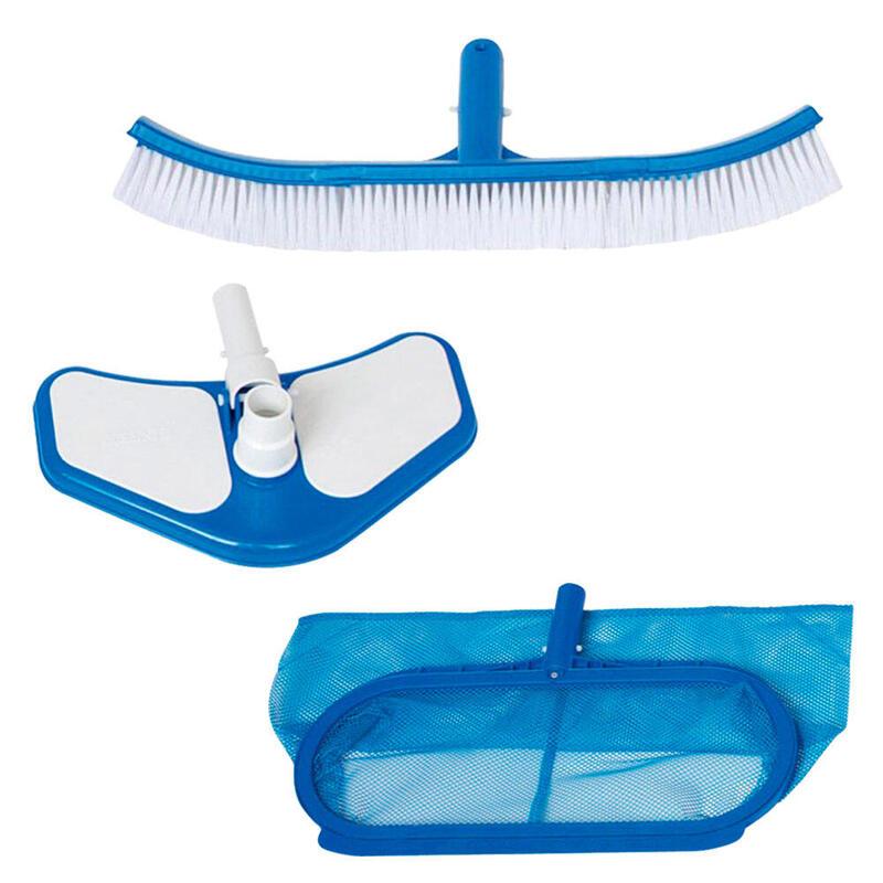 Kit de limpieza deluxe INTEX recoge hojas, cepillo y cabezal