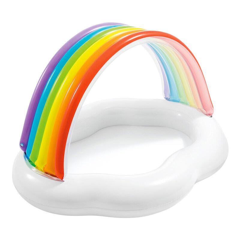 Piscina bebé INTEX con toldo arcoiris
