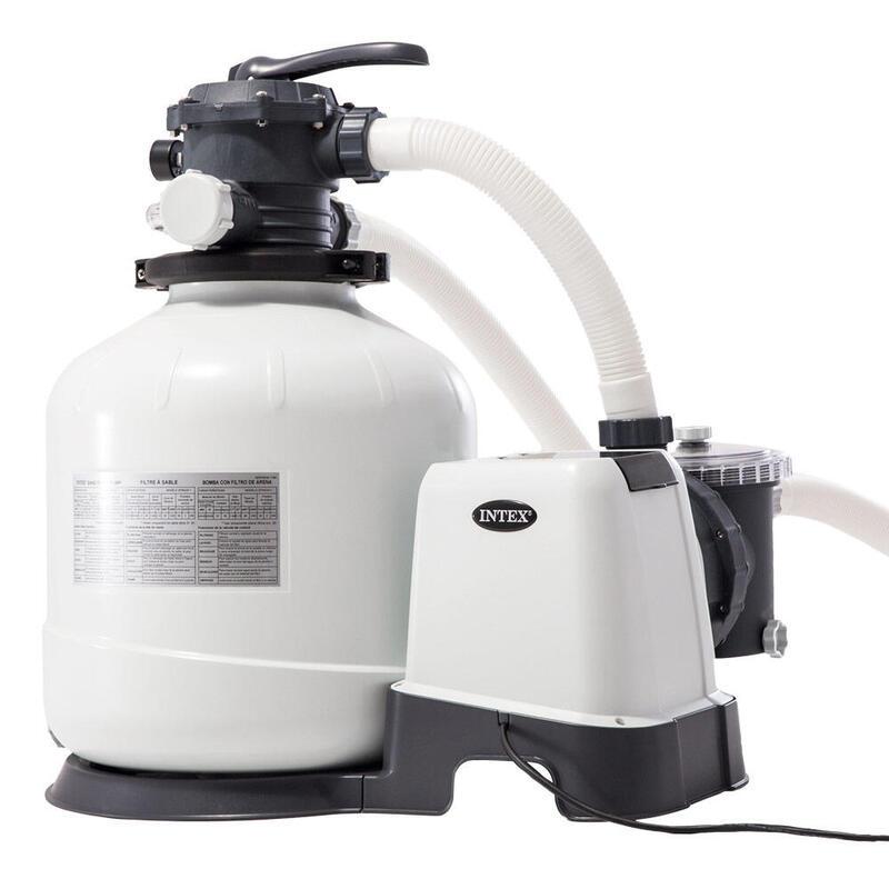 Depuradora de arena INTEX krystal clear 12.000 litros/hora 0,75hp