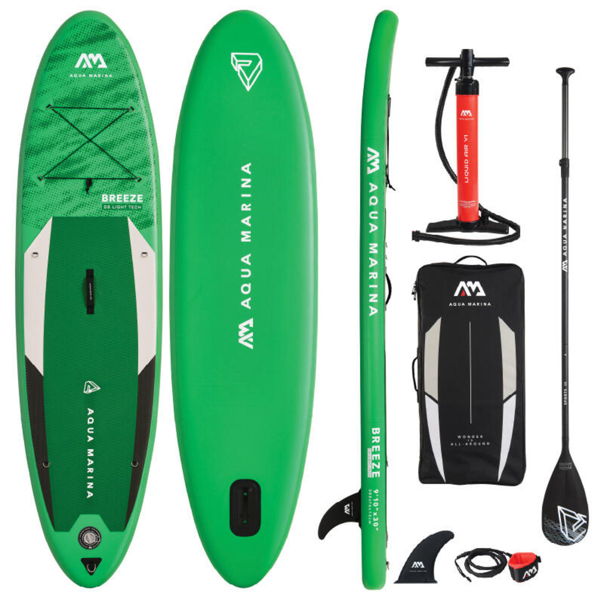 Aqua Marina Breeze 9.10 / 300cm Inflatable Stand Up Paddleboard Package