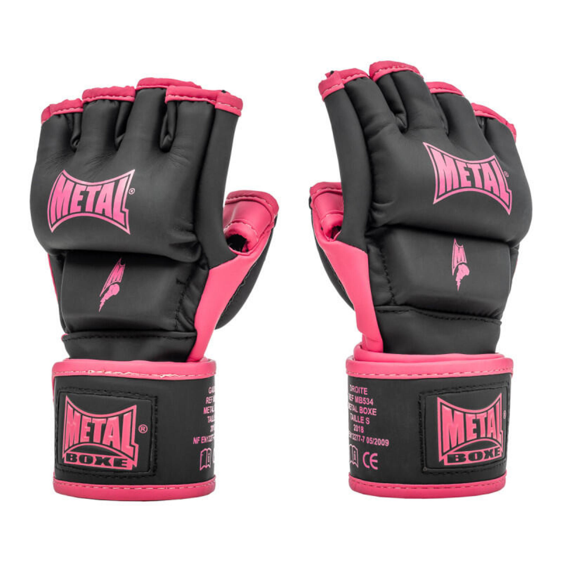 Gants de MMA métal Boxe Fushia