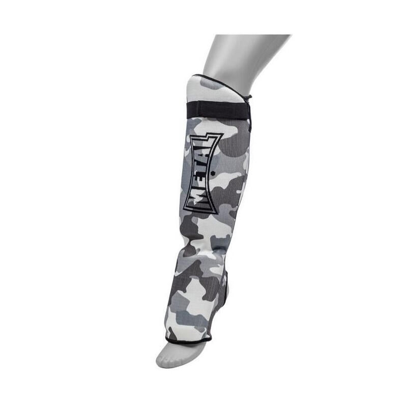 "Protège tibia+pied ""Army"" METAL BOXE"