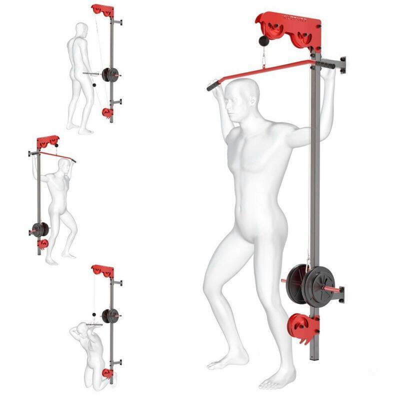 Station de musculation murale avec poulie