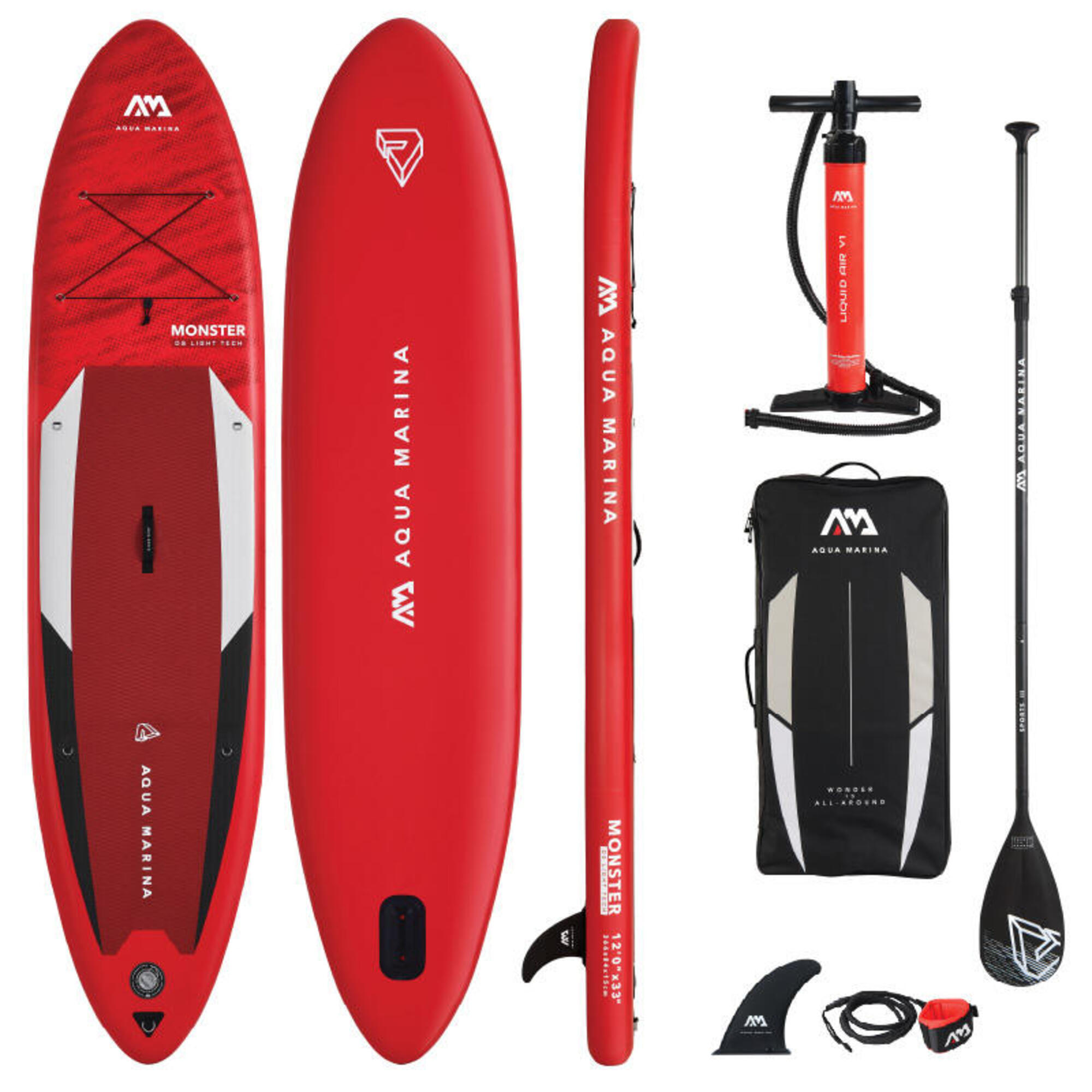 Aqua Marina Monster 12.0 / 366cm Inflatable Stand Up Paddleboard Package