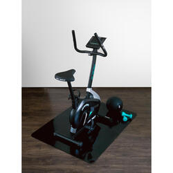 Onderlegmat / beschermmat voor fitnessapparaten - Zwart - 90x120 cm