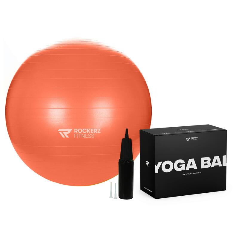 Fitnessbal - Yoga bal - Gymbal - Zitbal - 75 cm - Kleur: Oranje