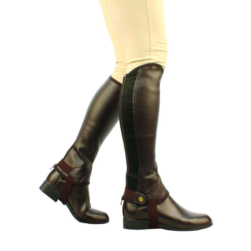 Unisex Equileather Half Chaps (Brown)