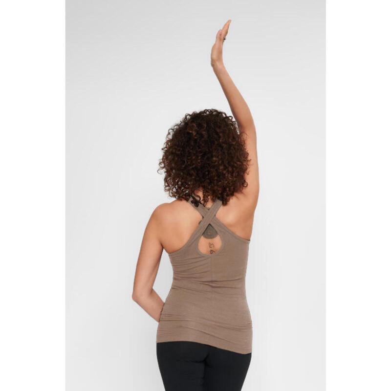 Top de yoga Prana - Haut de yoga extra long avec sangle d'entrejambe - Earth