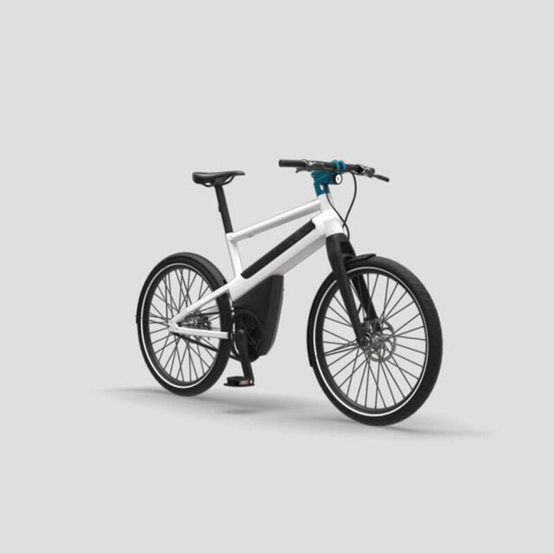 Vélo électrique urbain 100% automatique - Blanc Nacré