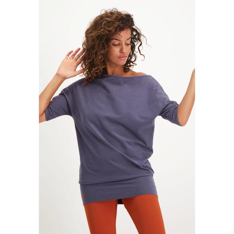 Tunique de yoga long et confortable avec ceinture. Coton organique - Rock