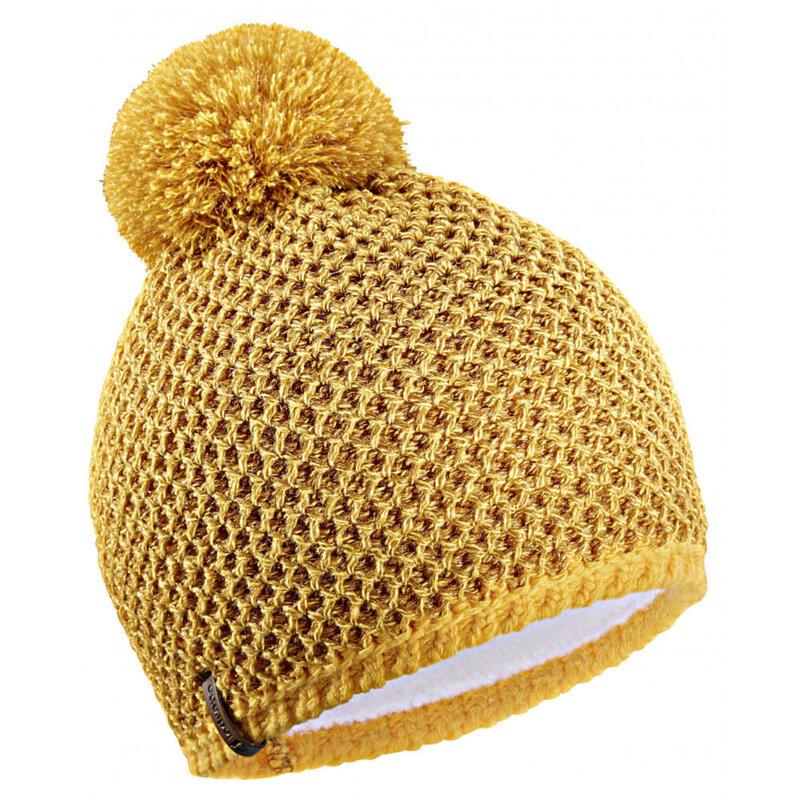 Bonnet Lurex jaune