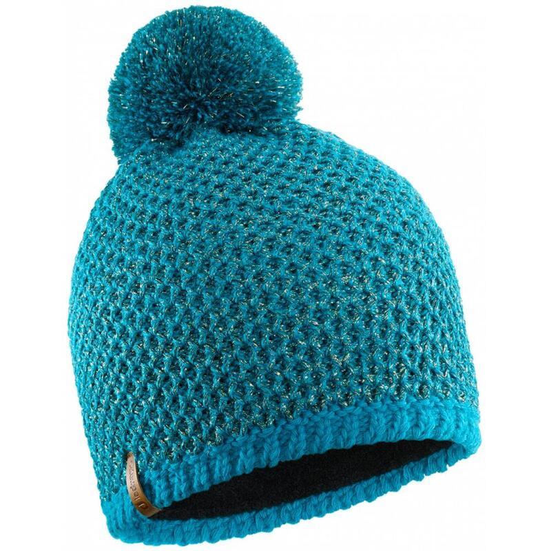 Bonnet Lurex bleu pétrole