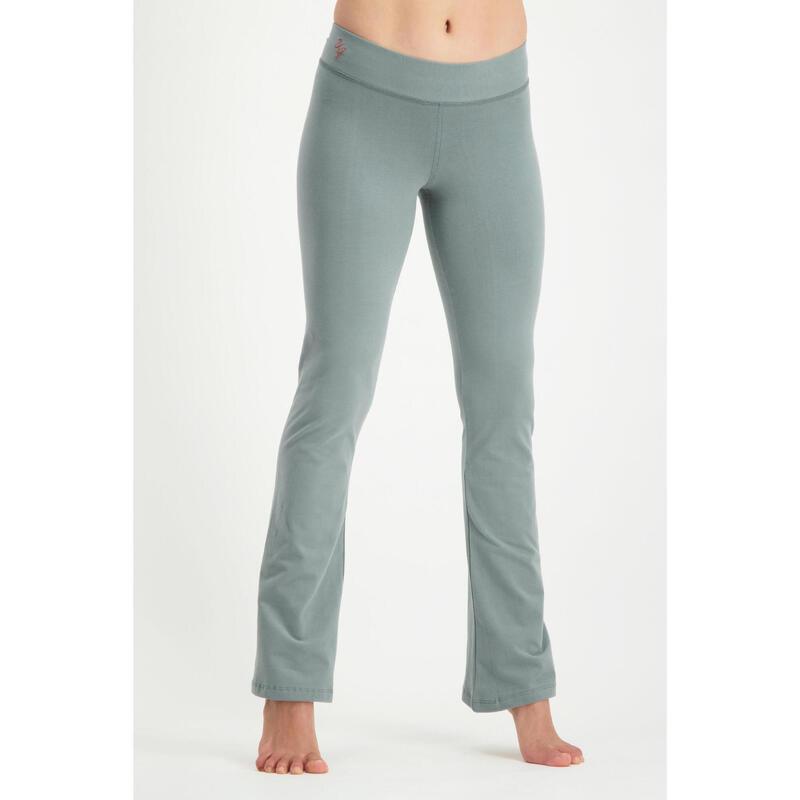 Pantalon de yoga Anandafied-taille moyenne, jambes évasées sur les hanches-Jade