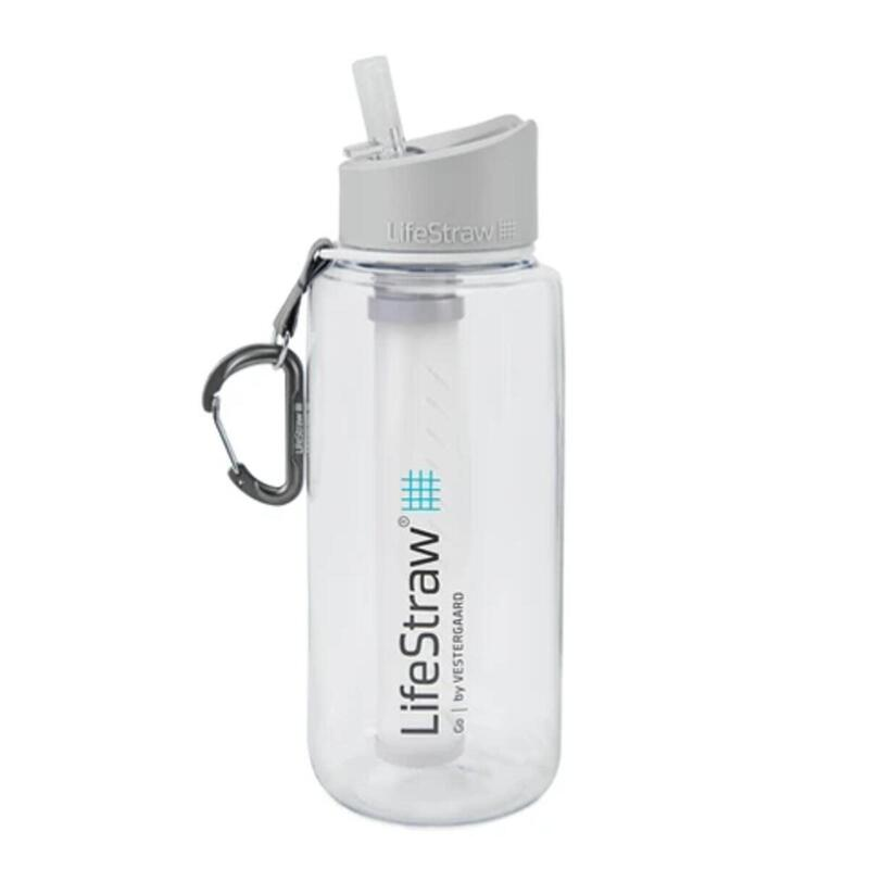 Waterfilterfles Go 1 liter - Transparant