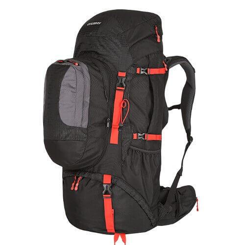 Rugzak Expeditie Samont backpack 60 + 10 liter - Zwart met Rood