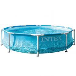 Intex Metal Frame Pool Round, 305x76 cm, Azul