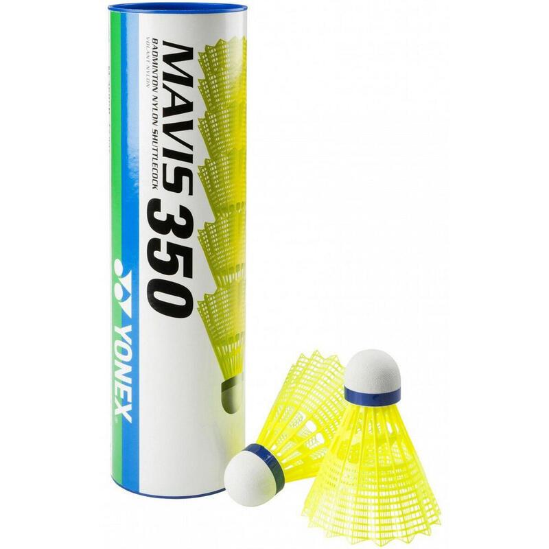 Yonex - MAVIS 350 黃色尼龍膠羽毛球 (1 x 6)