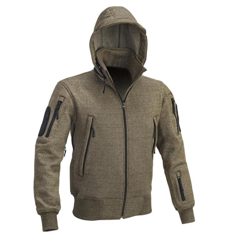 Heren sweater vest jack Tactical met capuchon - Groen