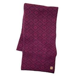 Gebreide sjaal van wol Elsie Red Plum 2020 - One Size 185x27 Rood