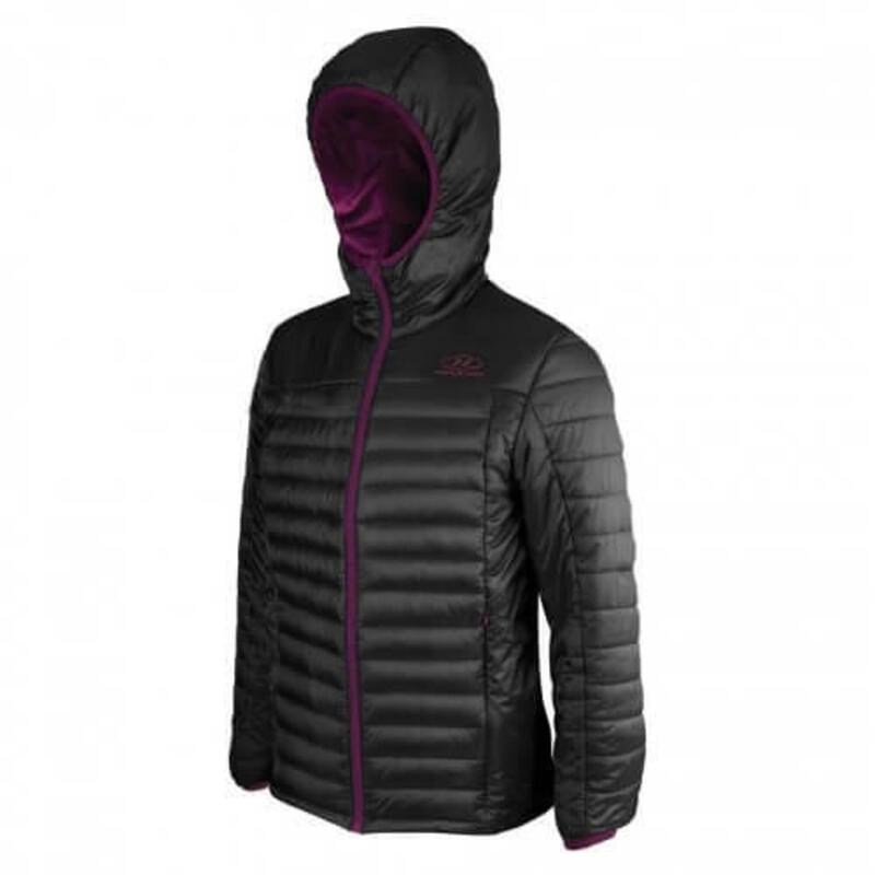 Hybrid donsjack Barra Jacket voor dames met capuchon -Zwart