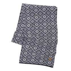 Gebreide sjaal van wol Elsie Navy 2020 - One Size 185x27 Blauw