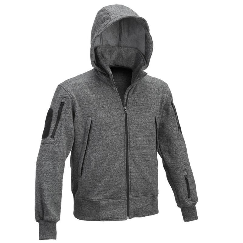 Heren sweater vest jack Tactical met capuchon - Zwart