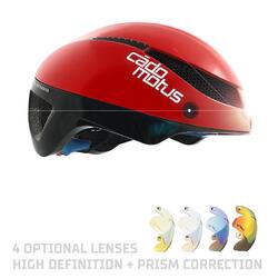 Omega Aerohelm voor schaatsen en triathlon | Rood