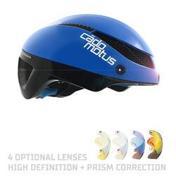 Omega Aerohelm voor schaatsen en triathlon | Blauw