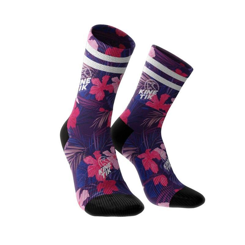 Chaussettes de trail running adulte Aktiv Hight Tropikal Pink