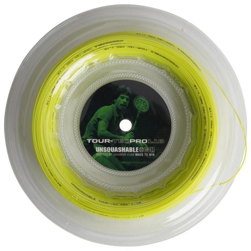 UNSQUASHABLE TOUR-TEC PRO 1.18 Squash String - 100M Reel