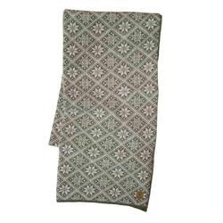 Gebreide sjaal van wol Elsie Lichen Green 2020 - One Size 185x27 Groen