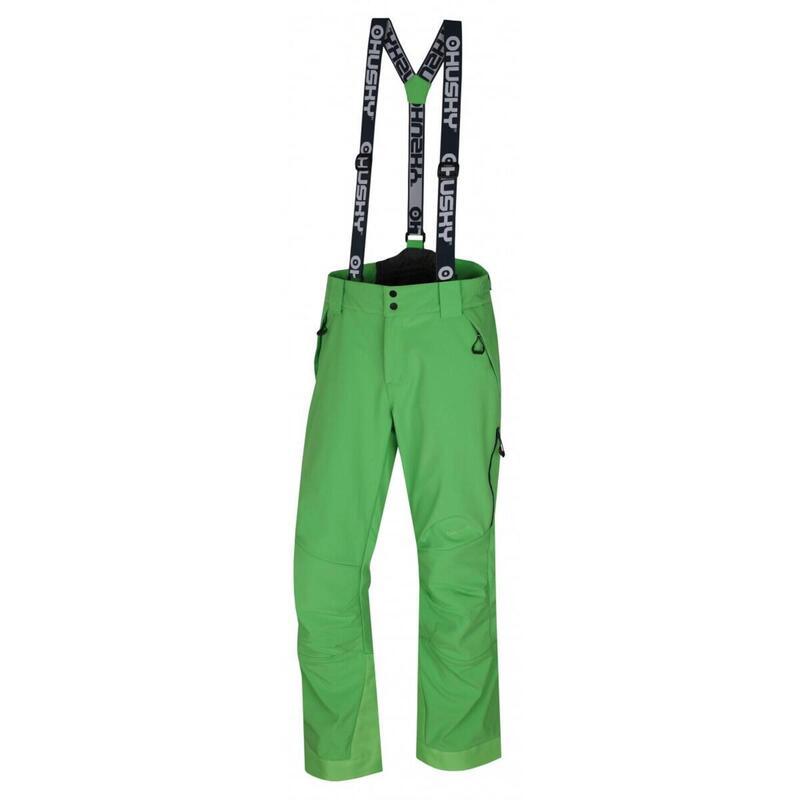 Skibroek voor heren Galti M Bright Green Softshell - Groen