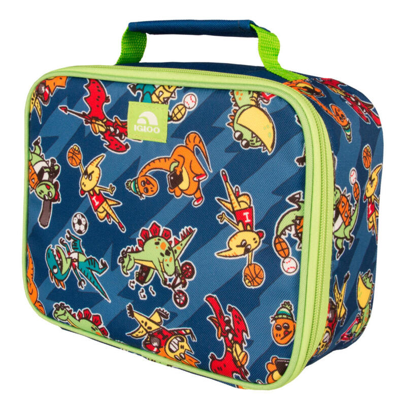 Nevera de tela infantil Camping y Senderismo IGLOO LUNCH BOX DINOS azul