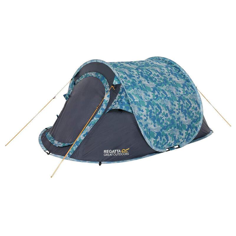 Regatta Green Tropical Malawi 2 Printed 2 Man Pop-Up Tent With Pattern