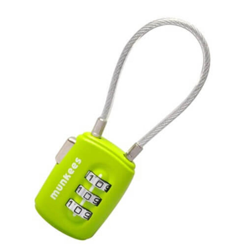 Kofferslot kabel combinatieslot - Groen