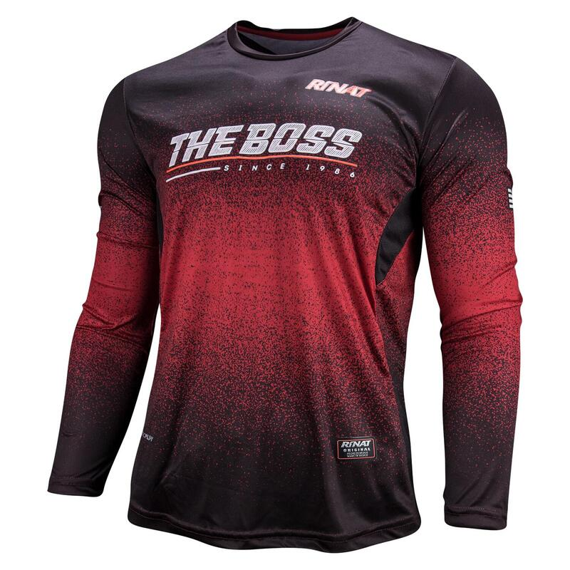 JERSEY THE BOSS maillot gardien but football protections Adulte Rouge