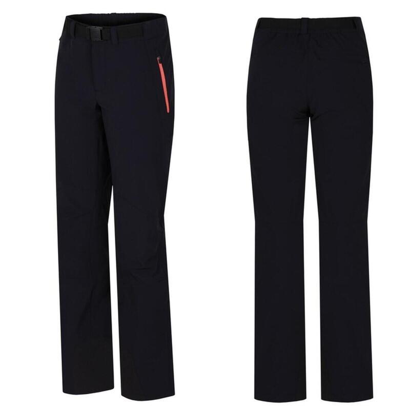 Outdoor-wandel broek Garwynet - softshell stretch Dames - Zwart
