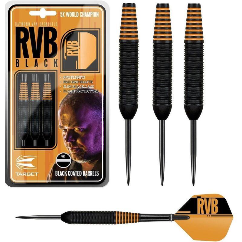 Raymond van Barneveld Black Brass Steel Tip Darts by Target