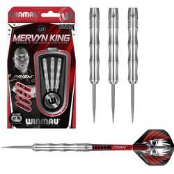 Mervyn King steeltip dartpijlen zilver 22gr