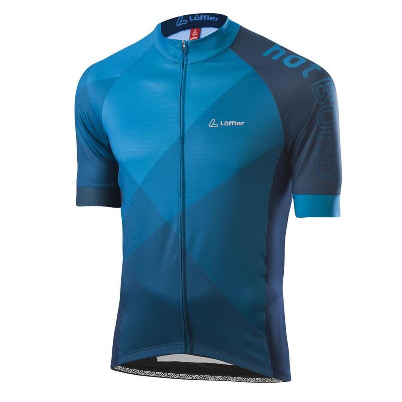 Wielrenshirt voor heren korte mouwen M Bike Jersey FZ Hotbond - Blauw