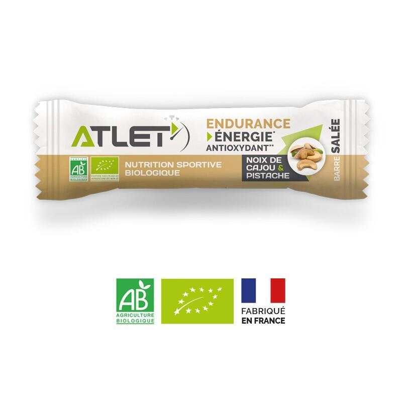 Barre endurance salée noix de cajou et pistache biologique 25g