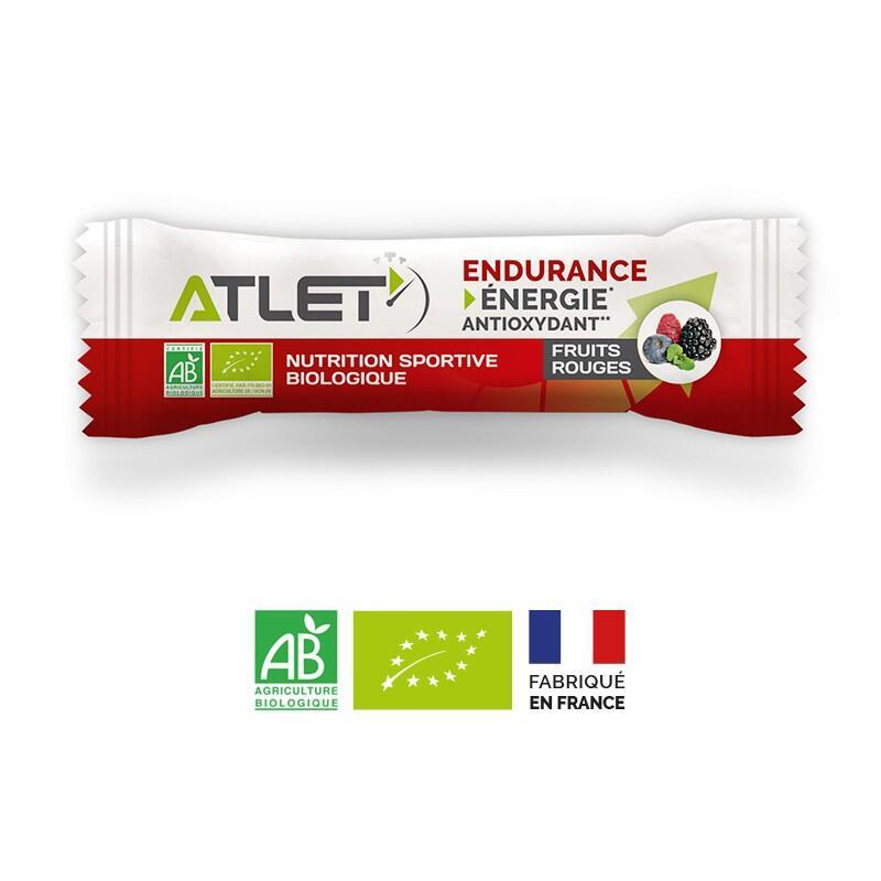 Barre endurance fruits rouges biologique 25g