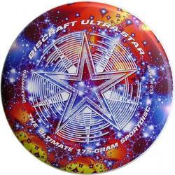 FRISBEE DISCRAFT ULTRA-STAR ROUGE FONCÉ 175 GRAM
