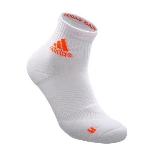 wucht P3 Badminton Socks (短筒襪) White with Signal Orange Size 2