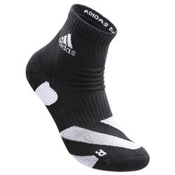 wucht P5 Badminton Socks Low Cut Black with Glory Grey Size 3