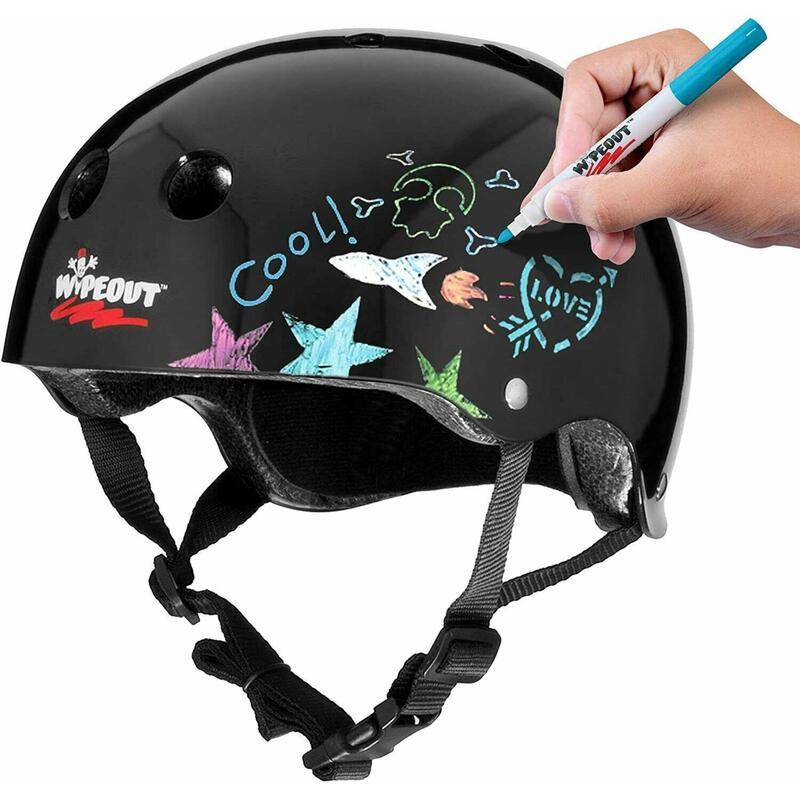 Wipeout Kids Bike Scooter Skate Helmet - Create own designs - Black 5+