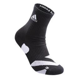 wucht P5 Badminton Socks Mid Cut Black with Glory Grey Size 3