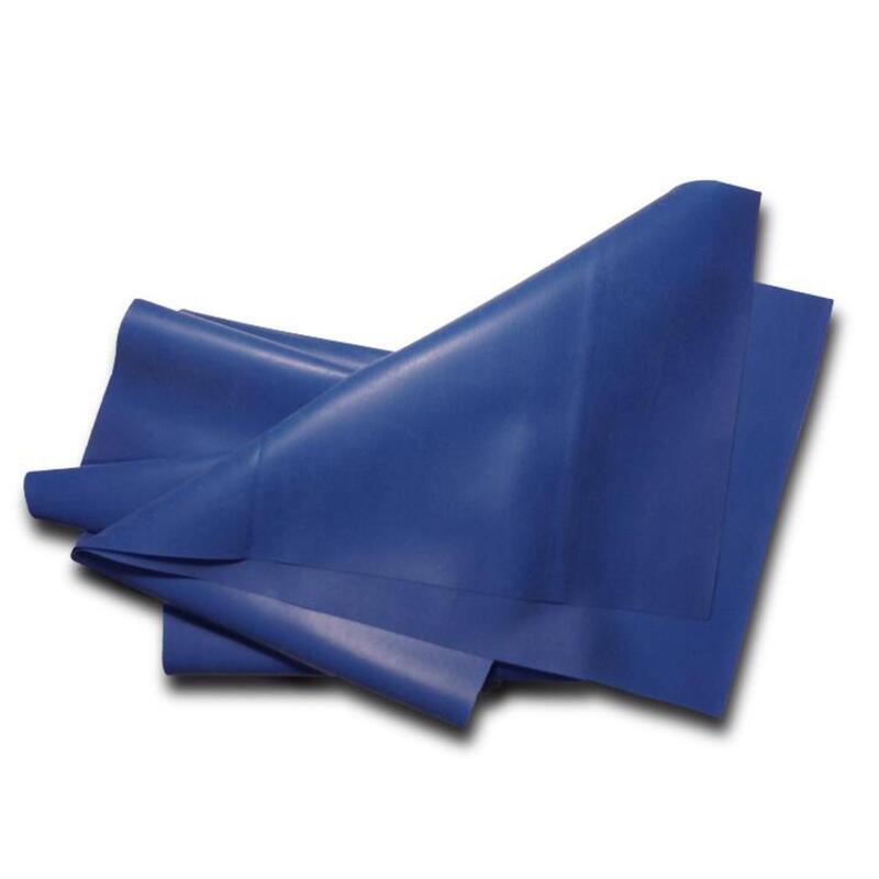 Banda elástica de látex natural azul