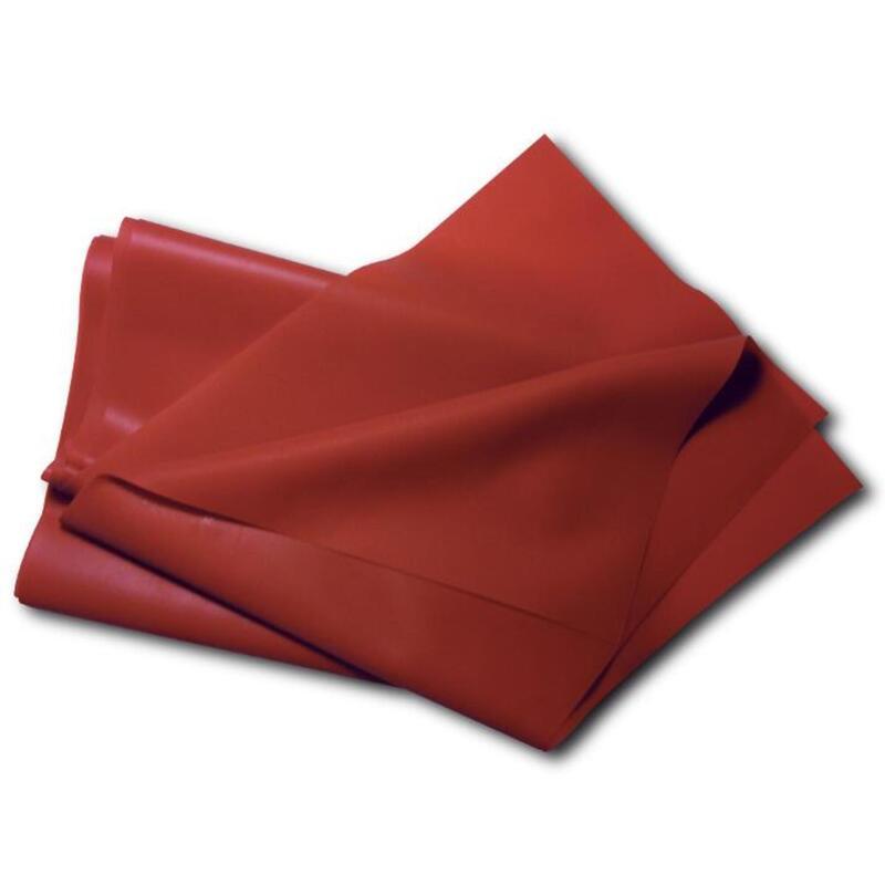 Banda elástica de látex natural roja