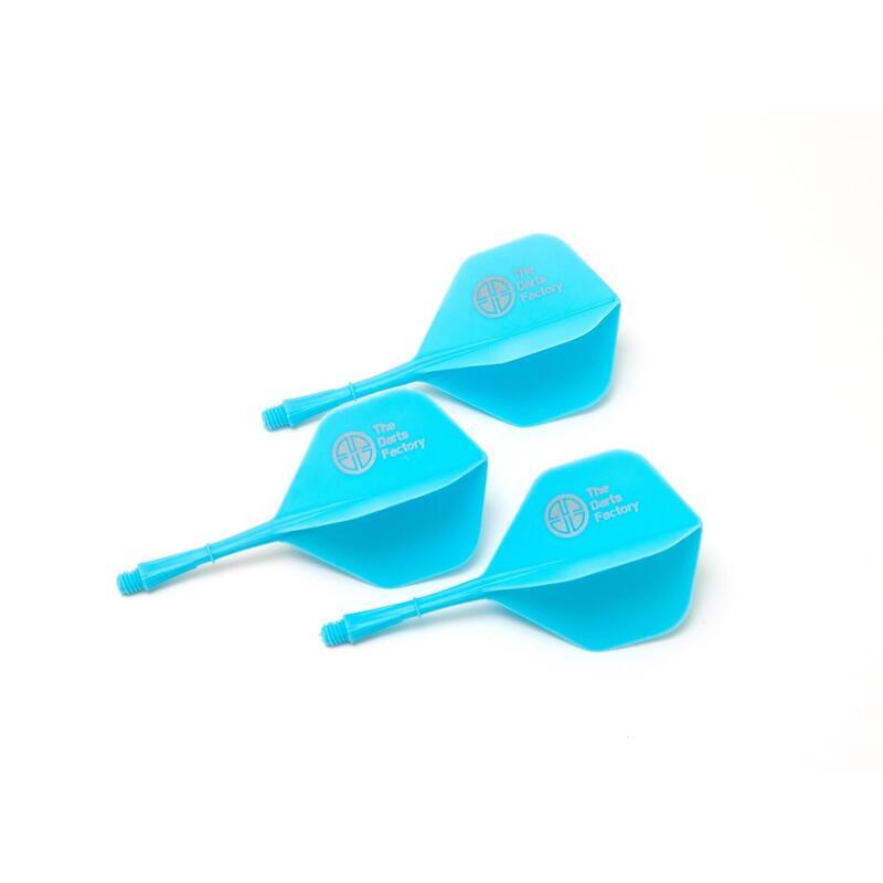 The Darts Factory - One Piece Shaft Flight - Blue